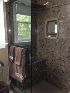 Shower quartz Granite installation