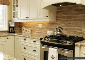 kitchen countertop and backsplash